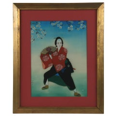Japanese Male Dancer Painting