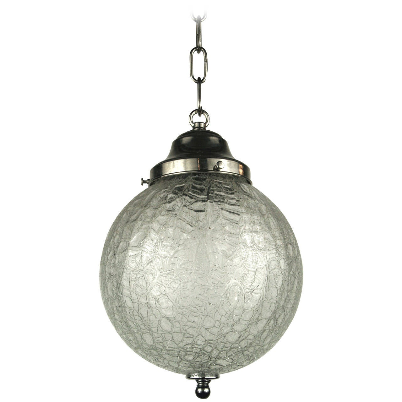 crackle glass sphere pendant for sale at 1stdibs
