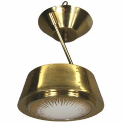 Sunburst Brass Semi  Flush Mount