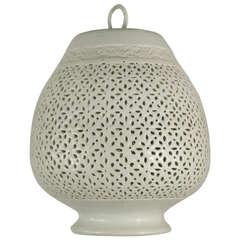Pierced Ceramic Pendant