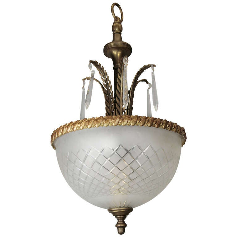 Leafy Inverted Dome Chandelier