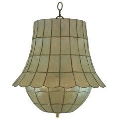 Large Bell Capiz Shell Pendant