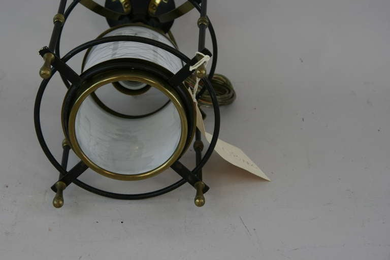 Brass  Small  Mid Century Lanterns, ( 3available) For Sale