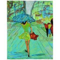 Moderne Painting-Rainy Day in Paris