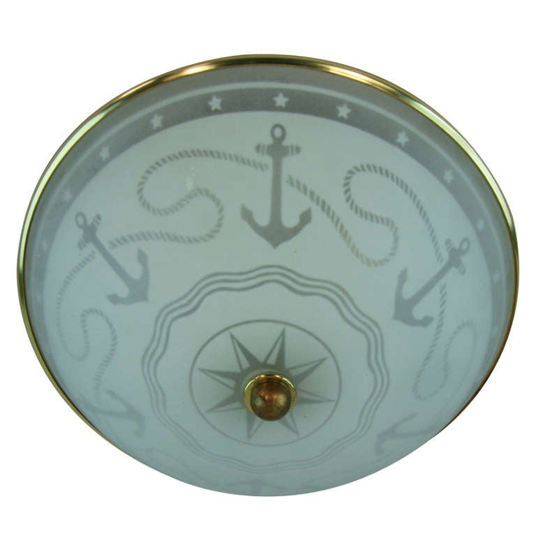 this nautical frosted glass flush mount is no longer available. Black Bedroom Furniture Sets. Home Design Ideas