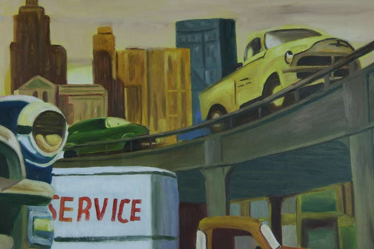 20th Century Pop Art Freeway Painting For Sale