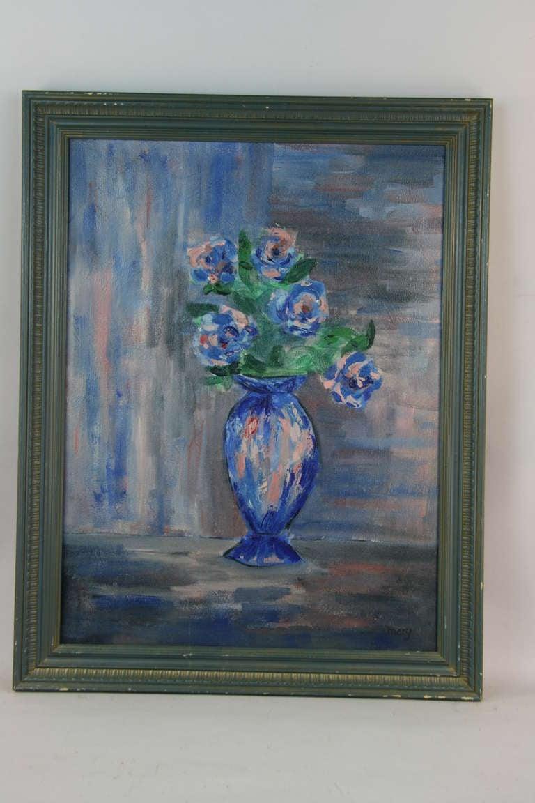 Blue Flower Arrangement At 1stdibs
