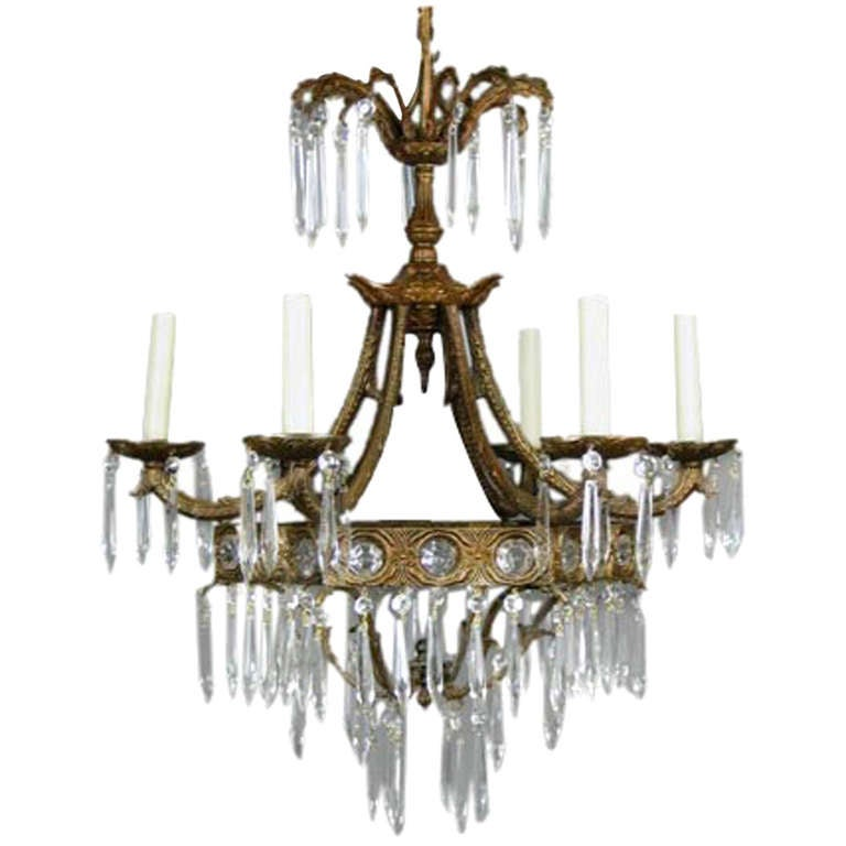 Crystal Prism Chandelier, 1940