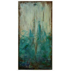Torquoise  Abstract   Lanscape Painting