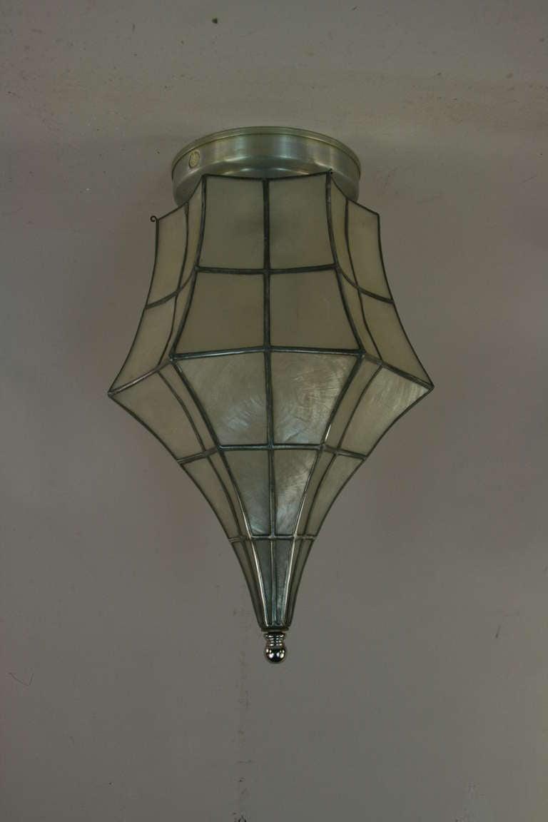 Vintage capiz shell flush mount for sale at 1stdibs for Shell ceiling light fixtures
