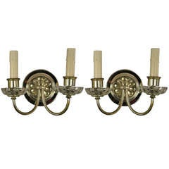 Pair of Mid Century Two Light Sconces
