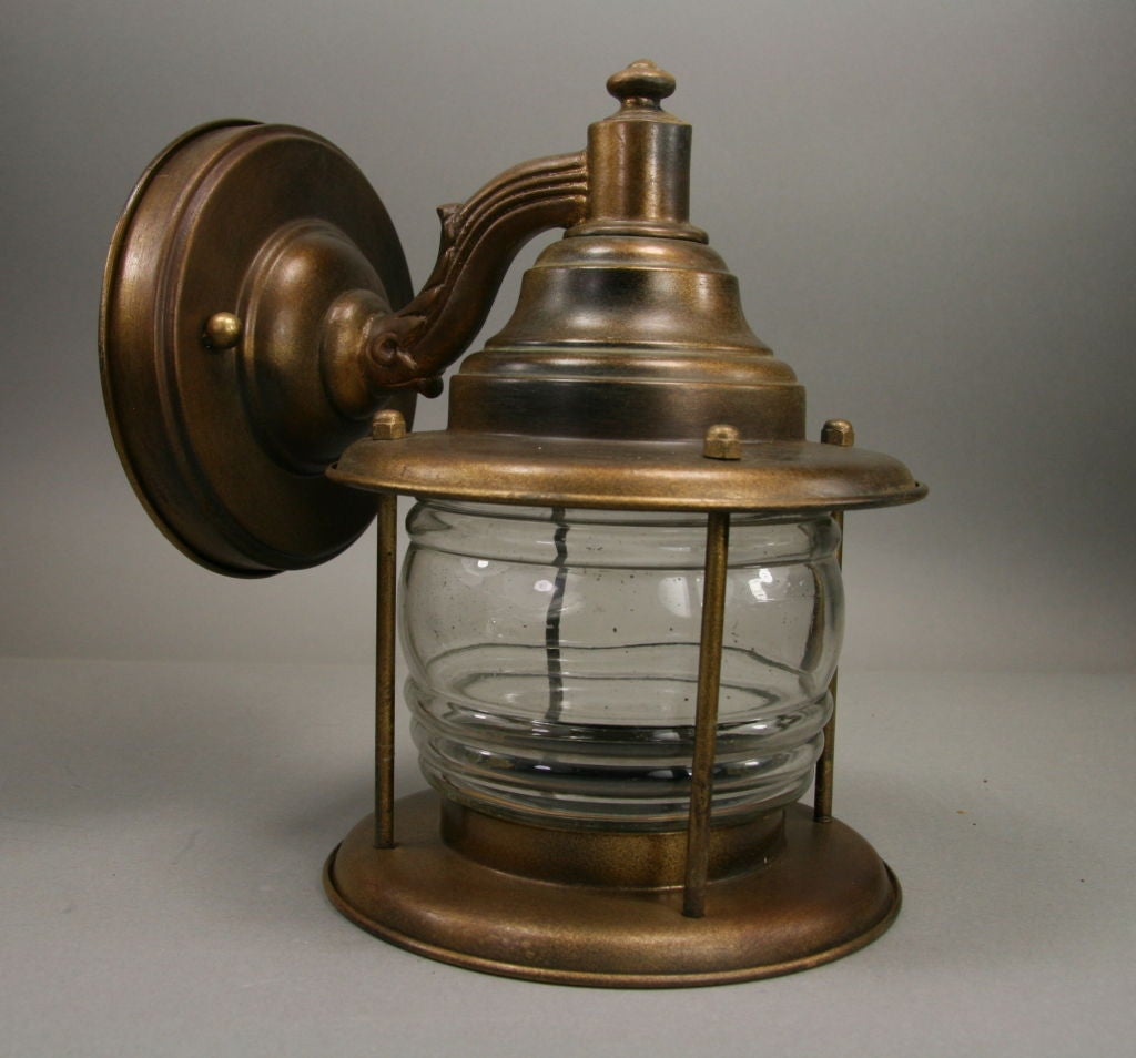 Wall Sconces Nautical: Pair Nautical Lantern Sconces At 1stdibs