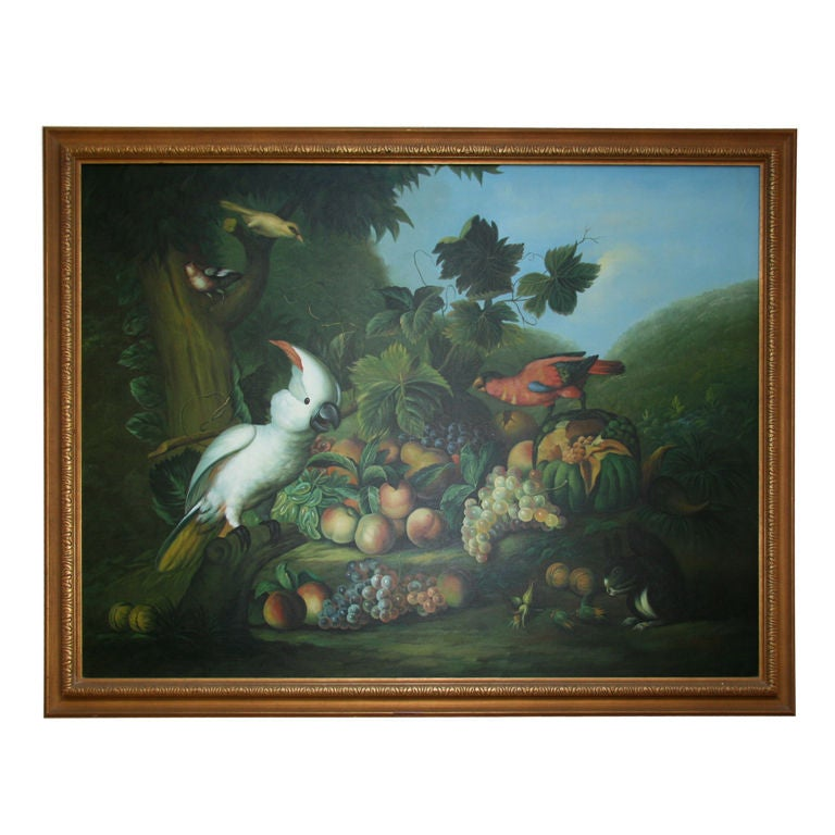 Still Life Parrots Oil Painting For Sale