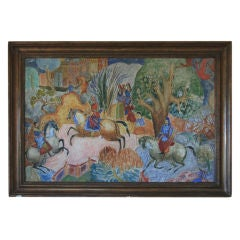 Large Scale Exotic Scene Oil Painting