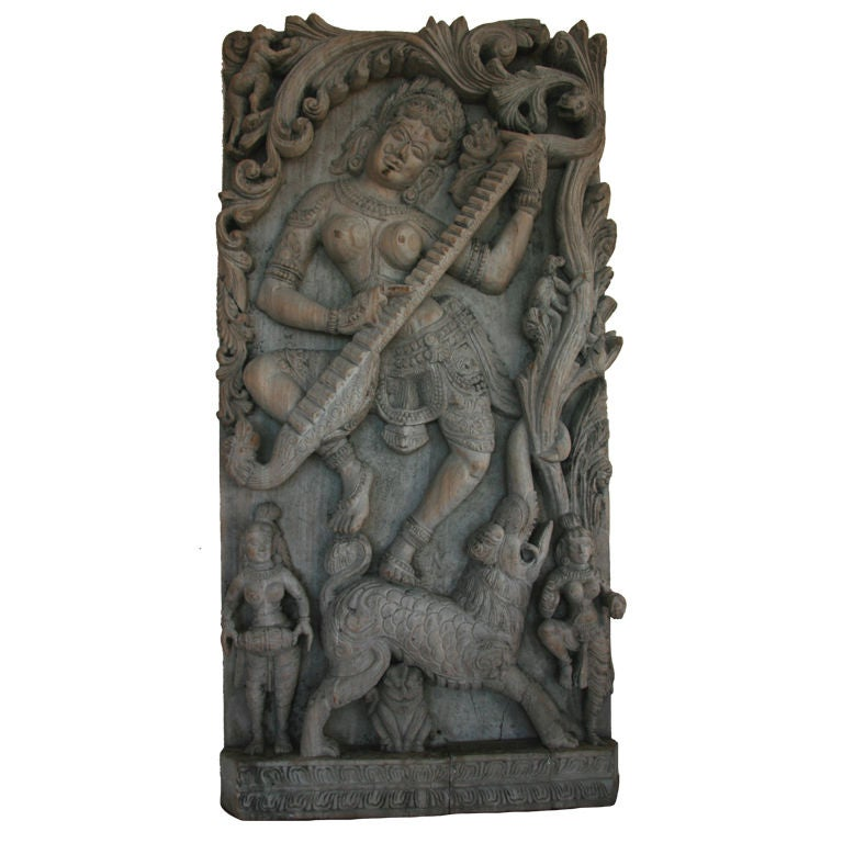ON SALE Lord Krishna Hand-Carved Architectural Fragment For Sale