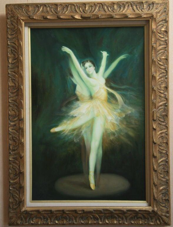 Italian Ballerina Original Oil Painting For Sale