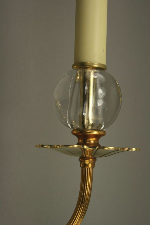 Wall Sconce With Crystal Ball : Pair French crystal Ball Sconces at 1stdibs