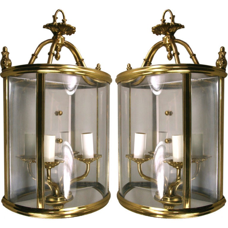 Cullen Wall Light Polished Brass : Pair of Polished Brass Two-Light Wall Light at 1stdibs