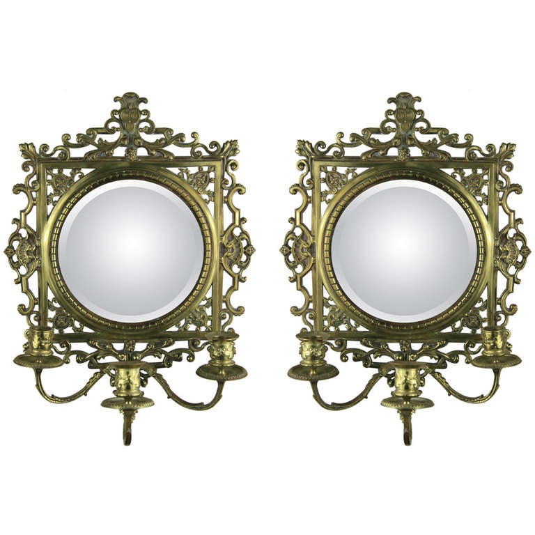 Pair of Ornate French Candle Sconce at 1stdibs