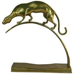 Brass Panther Sculpture