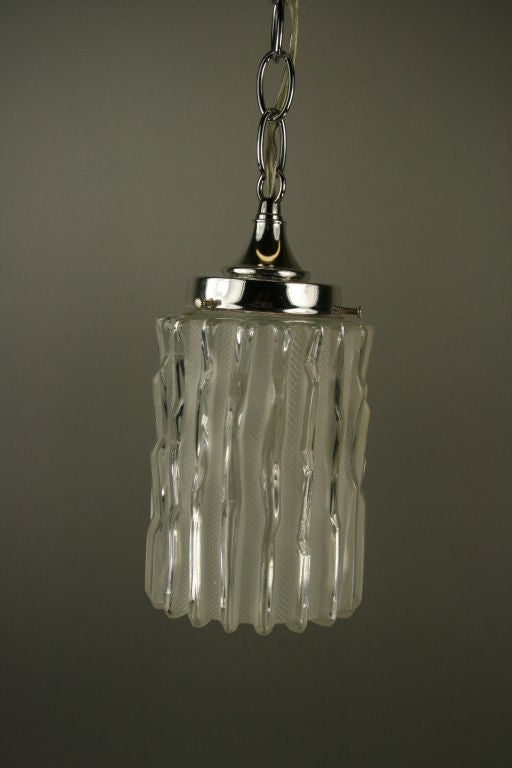 Mid-20th Century Murano Mid Century  Glass Pendant(5 available) For Sale