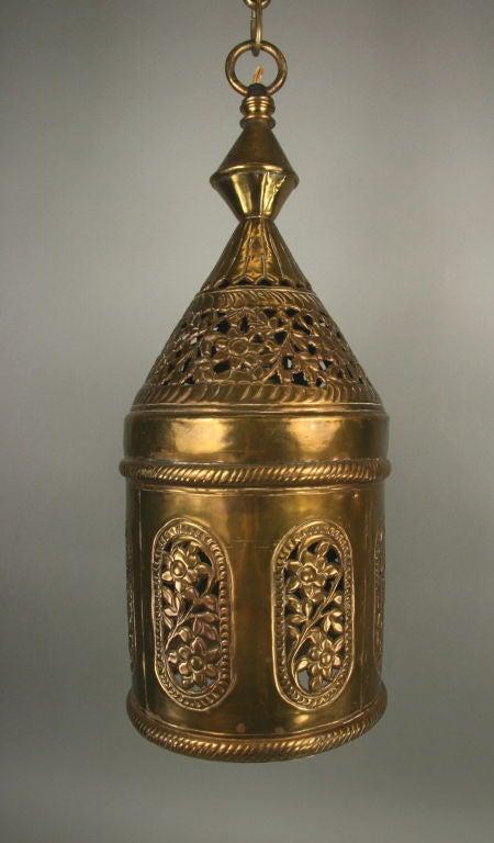 Indian Pierced Brass Pendant For Sale