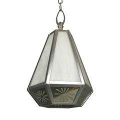 Hexagonal Mirrored Lantern