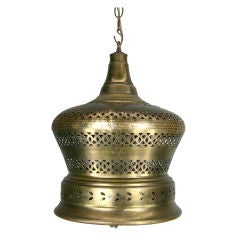 On Sale Handmade  Piereced Brass Indian  Bell Lantern