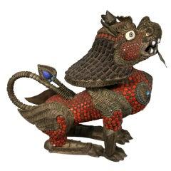 Silver Beaded Dragon