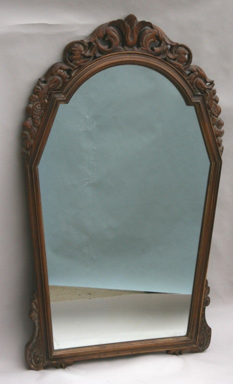 ON SALE Italian Carved Wood Mirror, circa 1920s 2