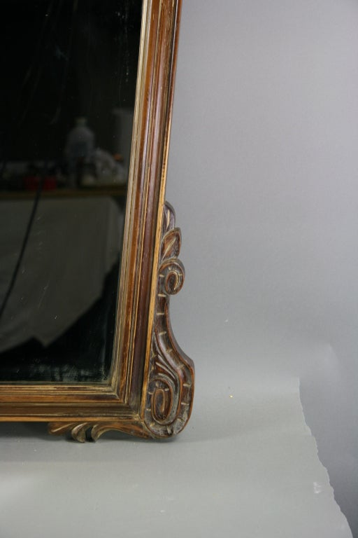 ON SALE Italian Carved Wood Mirror, circa 1920s 4