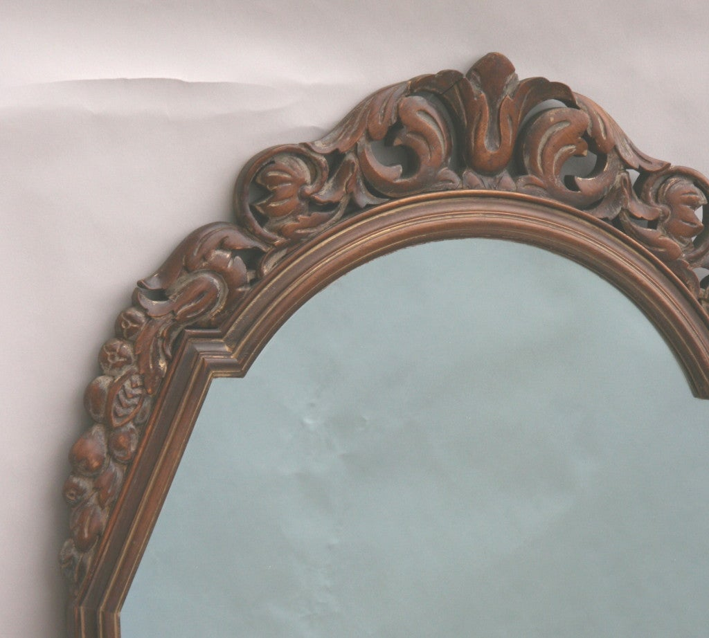 ON SALE Italian Carved Wood Mirror, circa 1920s 6