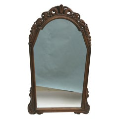 Italian Carved Wood Mirror, circa 1920s