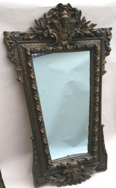 Ornate Figural Italian Mirror In Good Condition For Sale In Douglas Manor, NY