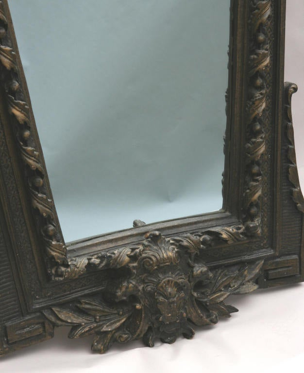 Mid-20th Century Ornate Figural Italian Mirror For Sale