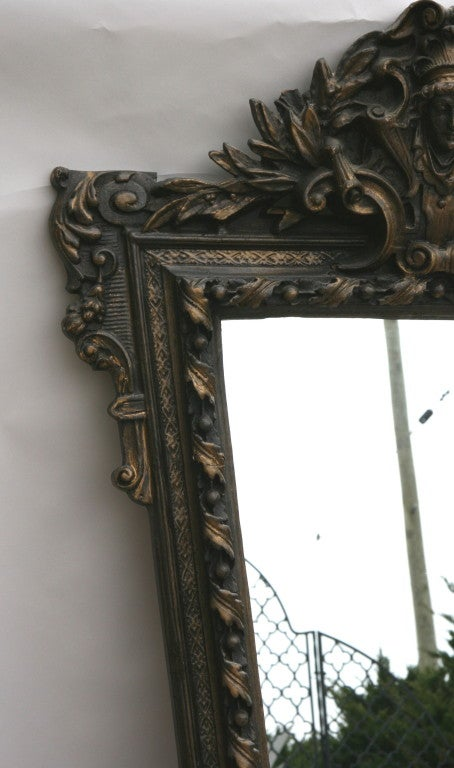 Ornate Figural Italian Mirror For Sale 1