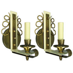Pair of French Mid Century  Sconces