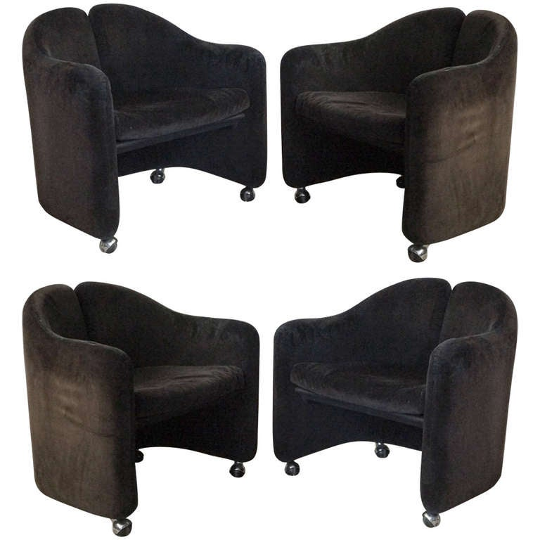 Set of Four Eugenio Gerli Armchairs