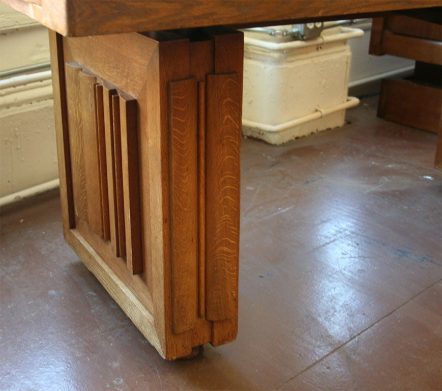 French Charles Dudouyt Dining Table For Sale