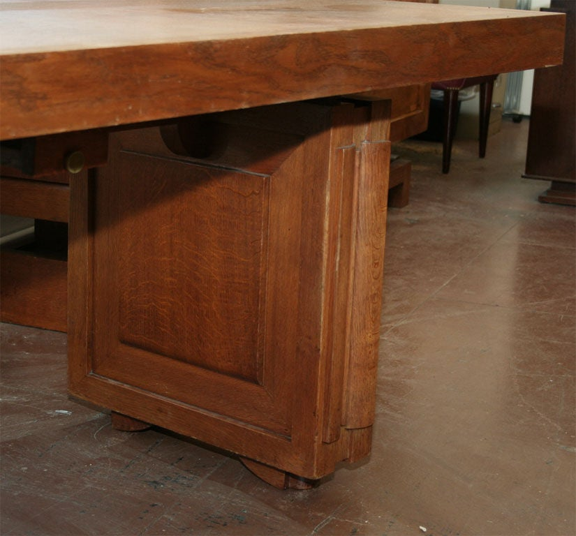 Charles Dudouyt Dining Table In Good Condition For Sale In Brooklyn, NY