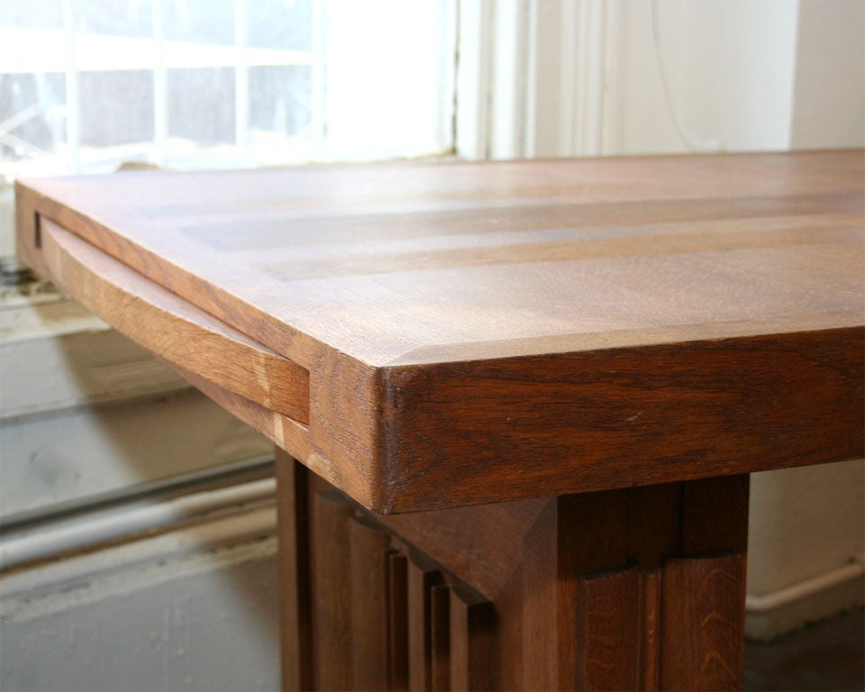 20th Century Charles Dudouyt Dining Table For Sale