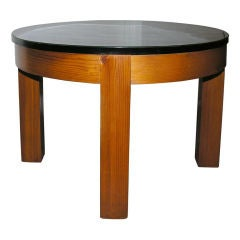 Square and Round End Tables in the Manner of P. Chapo