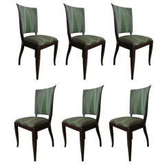 Set of Six High Back Art Deco Chairs