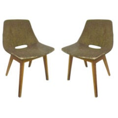 Rare Pair of Guariche Chairs