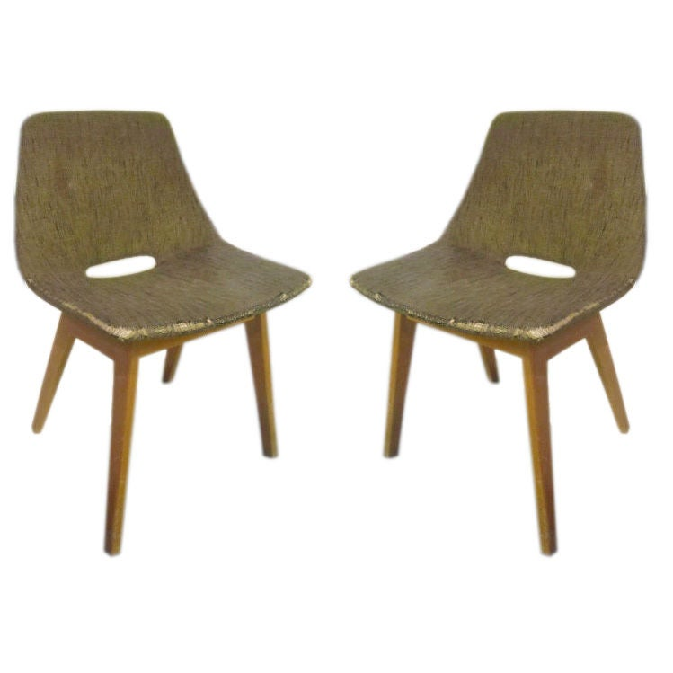 Rare Pair of Amsterdam chairs by P. Guariche