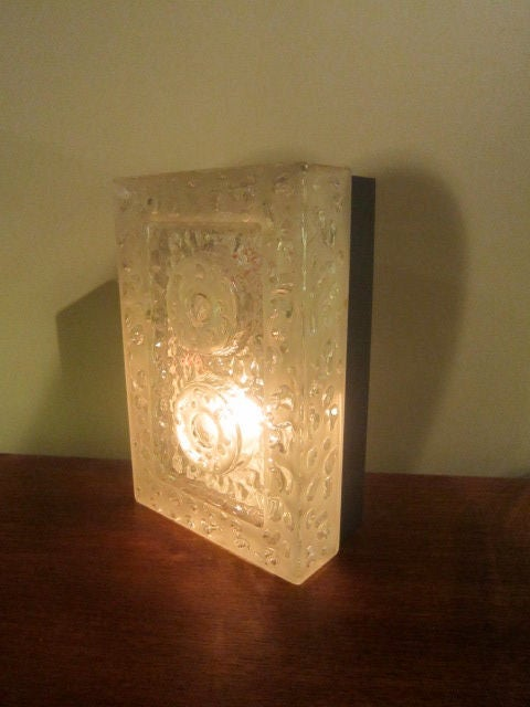 French Glass Wall Sconce For Sale