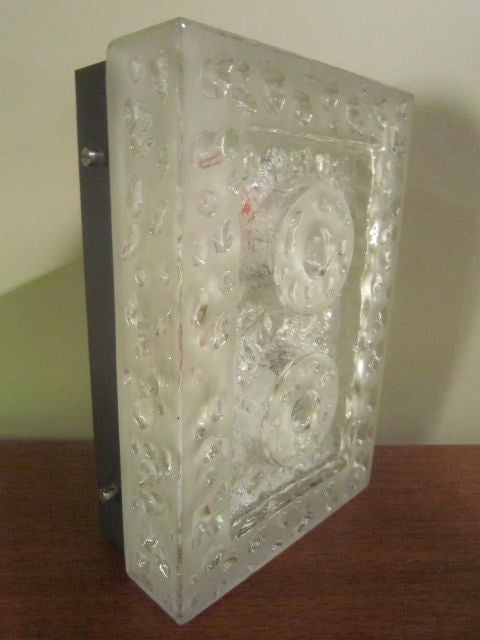 20th Century Glass Wall Sconce For Sale