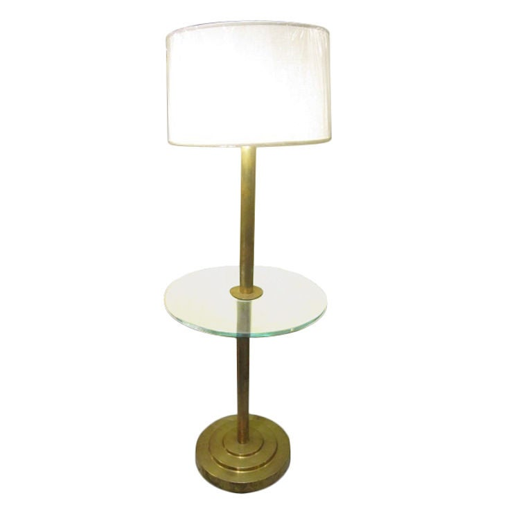 Art Deco Brass Floor Lamp