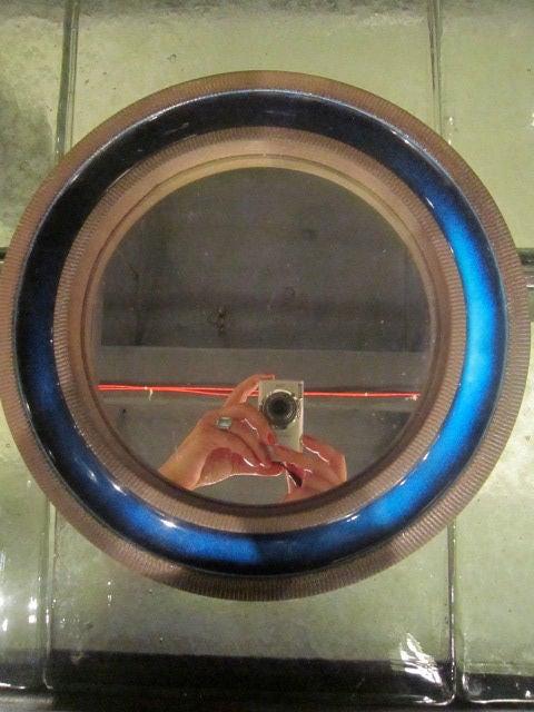 Danish knabstrup ceramic blue mirror