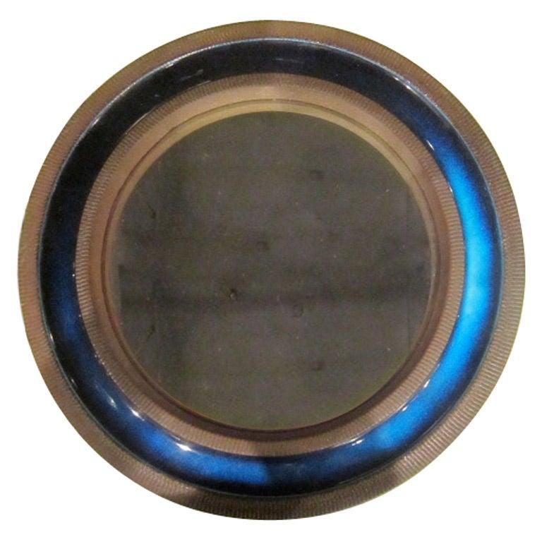 knabstrup ceramic blue mirror